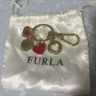 Furla heart key chain / bag charm