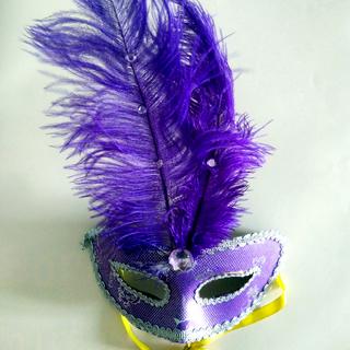 Purple Mardi Gras Mask