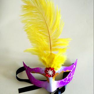 Purple & Yellow Mardi Gras Mask