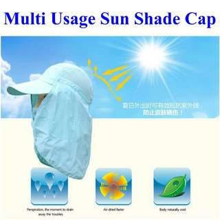Face Sunshade Sunblock UV Protection Cap for fishing, golf, camping, hiking and outdoor activities