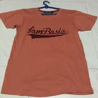 "Coral ""I Am basic"" Tshirt"