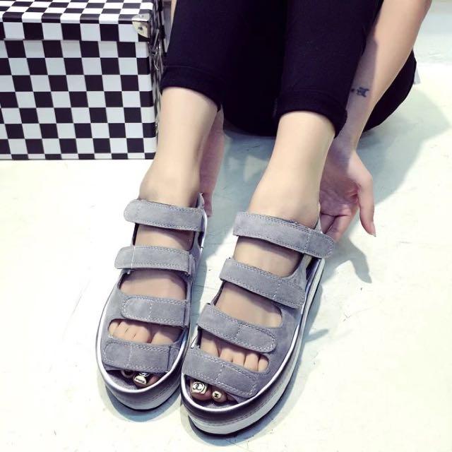韓版厚底羅馬涼鞋