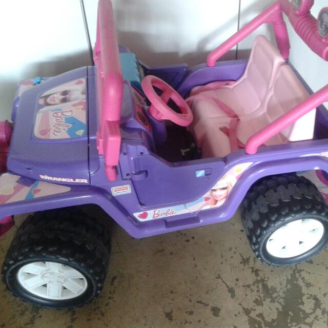 Barbie Jeep Power Wheel
