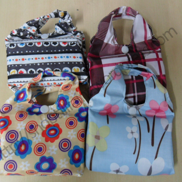 Foldable Shopping Tote Compact Eco Reusable Recycle Storage Bags