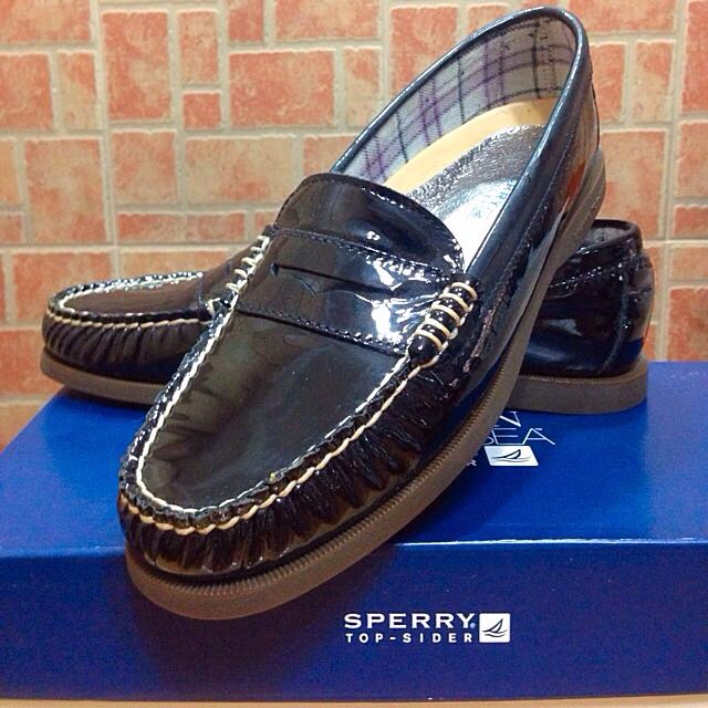 b2319a61e31 Sperry Top-Sider Hayden Penny Loafer In Black Patent Leather ...