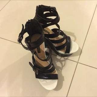 Nasty Gal Black/white Heel