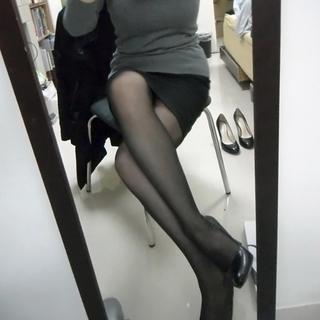 簡約黑色上班高跟鞋 23.5號(6.5碼)(僅試穿過)