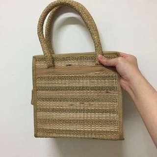 編織草蓆手提帶