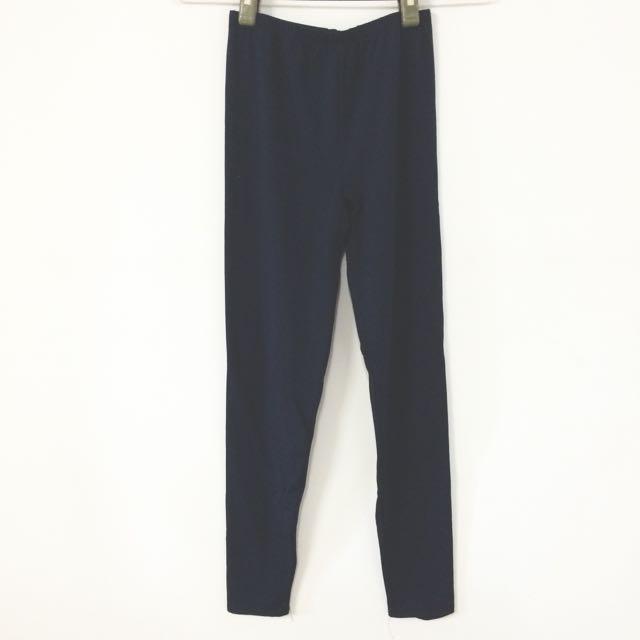 超彈性丈青色內搭褲