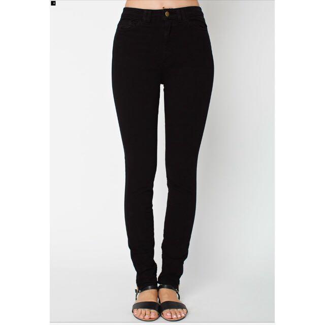 (保留)American Apparel 黑色高腰緊身褲