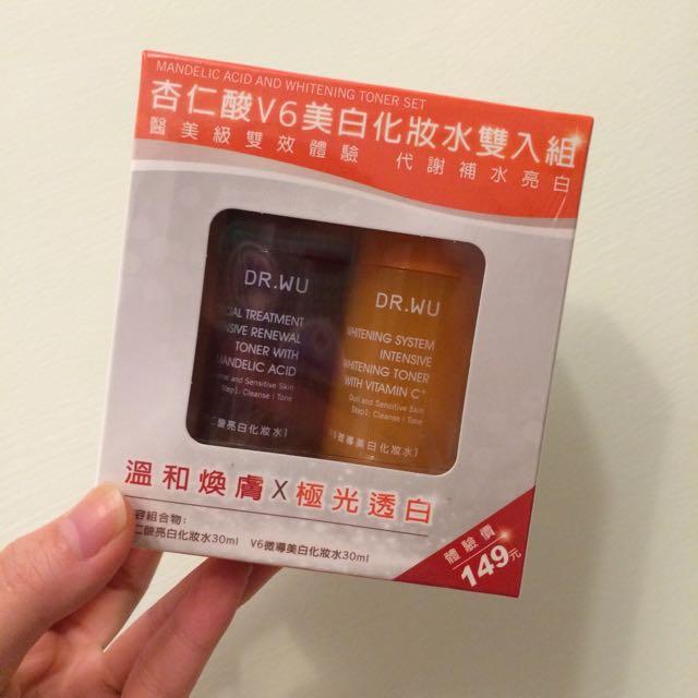 Dr.Wu杏仁酸V6美白化妝水雙入組