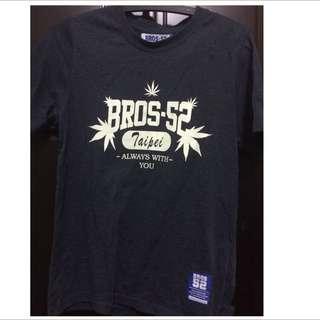 Bros 52 灰藍色夜光T(男版)