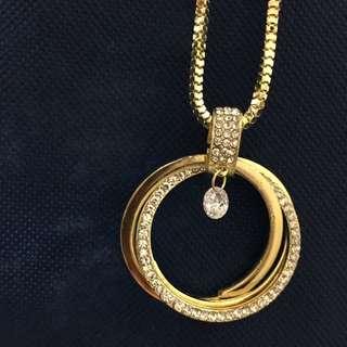 金色三圈鑽鍊