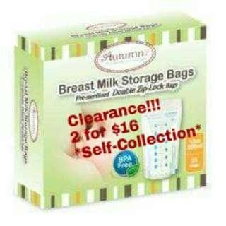 Autumnz Double ZIP Breastmilk Bag (BRAND NEW)