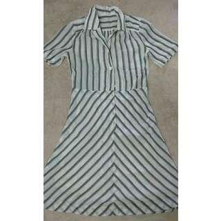 Vintage Strips Dress