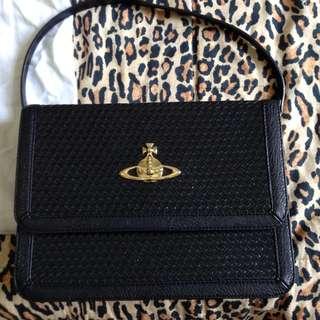 Vivienne Westwood黑色手提包/肩背包