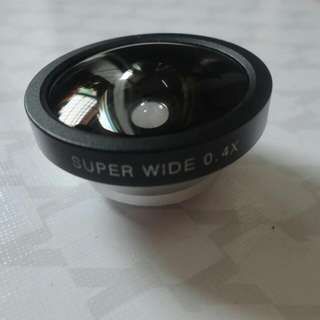 手機鏡頭 萬能夾子0.4X超廣角鏡頭手機特效鏡頭 魚眼鏡頭 Iphone5/5s Iphone6 三星 HTC