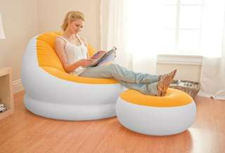 (Pre-Own) INTEX Inflatable Sofa Air Lounge Stool - Fold Compactly For Storage Ideal For Use Indoor or Outdoor with electric pump
