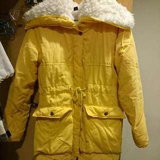 馬卡龍黃厚外套