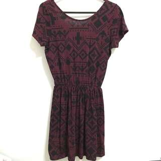 Topshop Maroon Dress