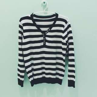 [PL] Knitted Striped Top