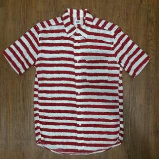 (二手)UNIQLO 紅白條紋襯衫