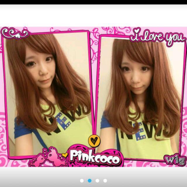 粉紅可可假髮