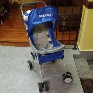 Seababy Light Weight Stroller (Blue)