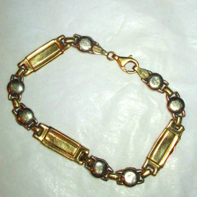 10 K Italy Gold Versace Design Link Bracelet