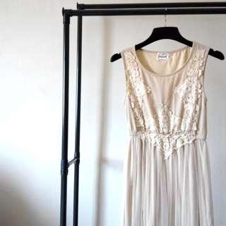*NEW* Half Sheer Maxi Dress