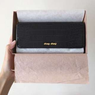 (Final Reduction) Miu Miu St. Cocco Lux (Nero) Wallet