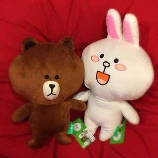 Line 熊大與兔兔一組(寄費100)