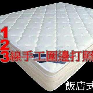 床工坊-5尺三線飯店式獨立筒床墊(全省配送)