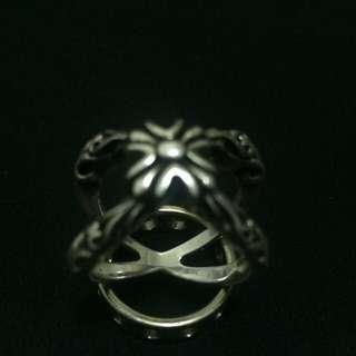造型:十字花勳章X交叉造型925純銀戒指