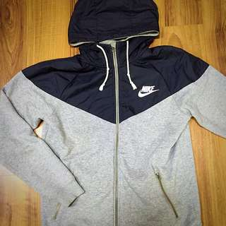 (保留)Nike 連帽外套 灰黑 拼接