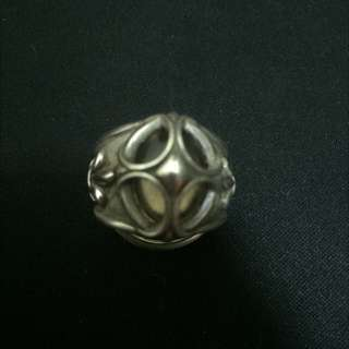 皇家褐色寶石鳶尾花925純銀戒指