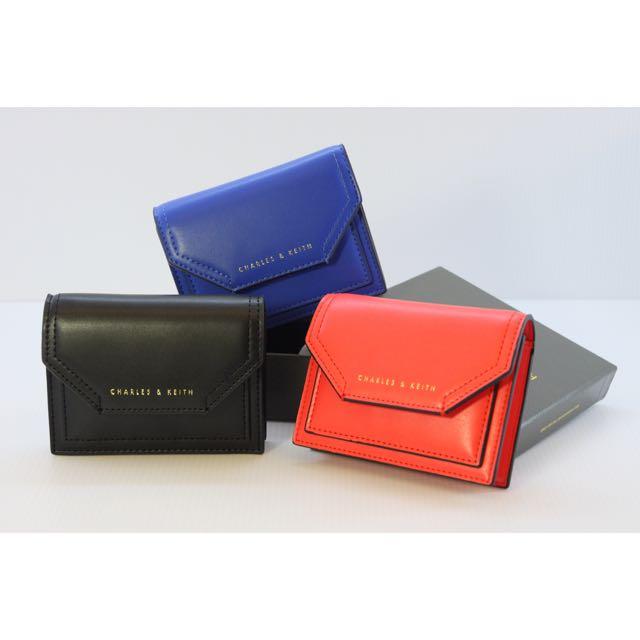 Charles&Keith (新加坡小CK)信封零錢小卡夾(紅/藍)