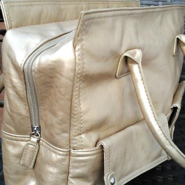 Large Gold Hand Bag