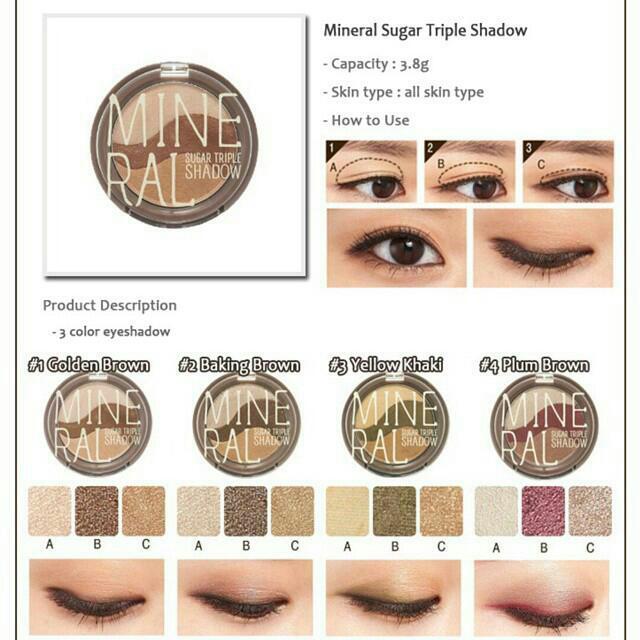 Skinfood mineral sugat triple shadow