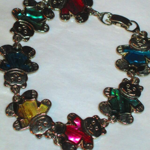 Teddy Bear Charm Bracelet