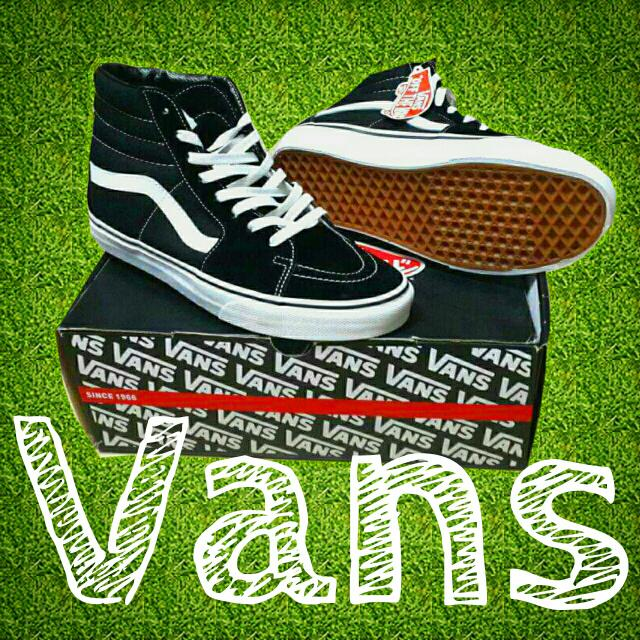Vans 黑 高筒 經典Old School滑板必備
