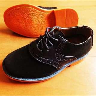 英國名品童鞋 麂皮紳士鞋