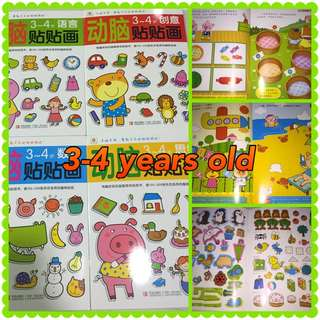 Chinese Sticker Books (3-4 Yrs Old)