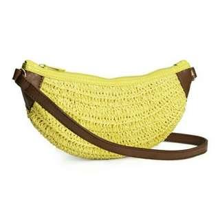 H&M Banana Straw Bag