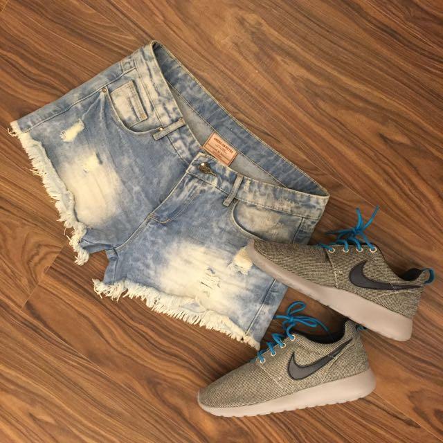 歐美🇺🇸刷破性感牛仔短褲