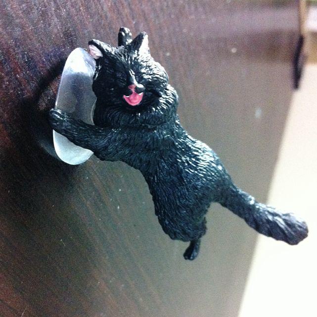 🙋(降)扭蛋 黑貓咪手機座