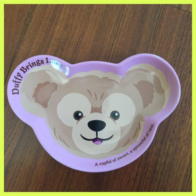 日本!迪士尼 日單原裝正品 DUFFY達菲熊 熊頭照型 陶瓷點心碟 水果盤