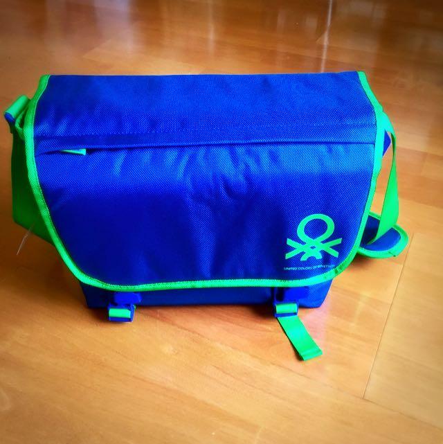 Benetton名牌多功能郵差包 托特包 相機包