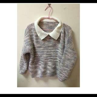 韓製針織混色毛衣