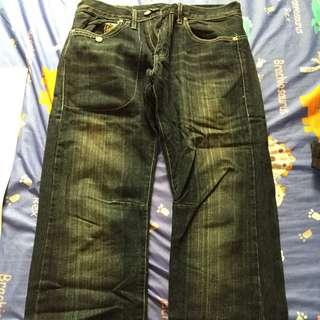 [男]基本款素色牛仔褲